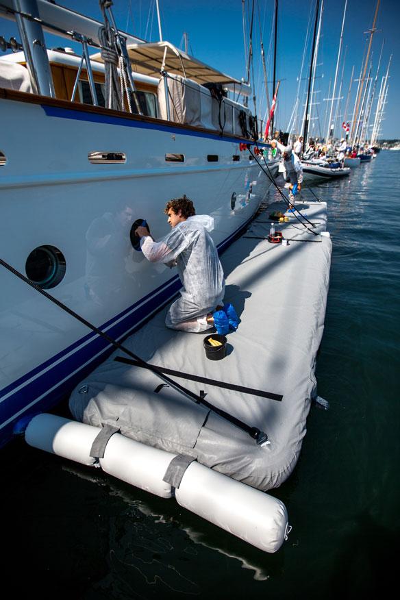 long inflatable maintenance platform - Nautibuoy Marine