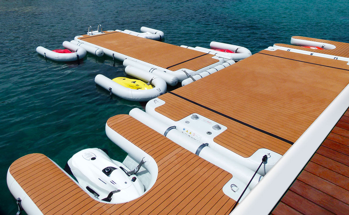 NautiBuoy C-dock - Modular inflatable Seabob dock, avoid