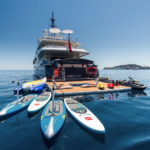 Inflatable platform in square configuration as a watersports station - Nautibuoy Marine
