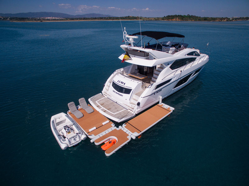 Customisable inflatable platform system at right-angle - Nautibuoy Marine