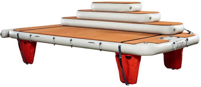 Nautibuoy inflatable platform with 3 steps for transoms - Nautibuoy Marine