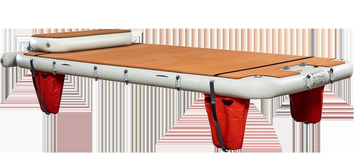 Nautibuoy inflatable platform with short step for transoms - Nautibuoy Marine
